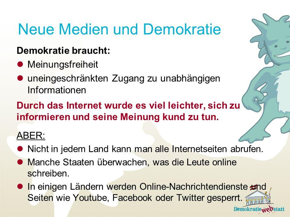 Neue Medien und Demokratie