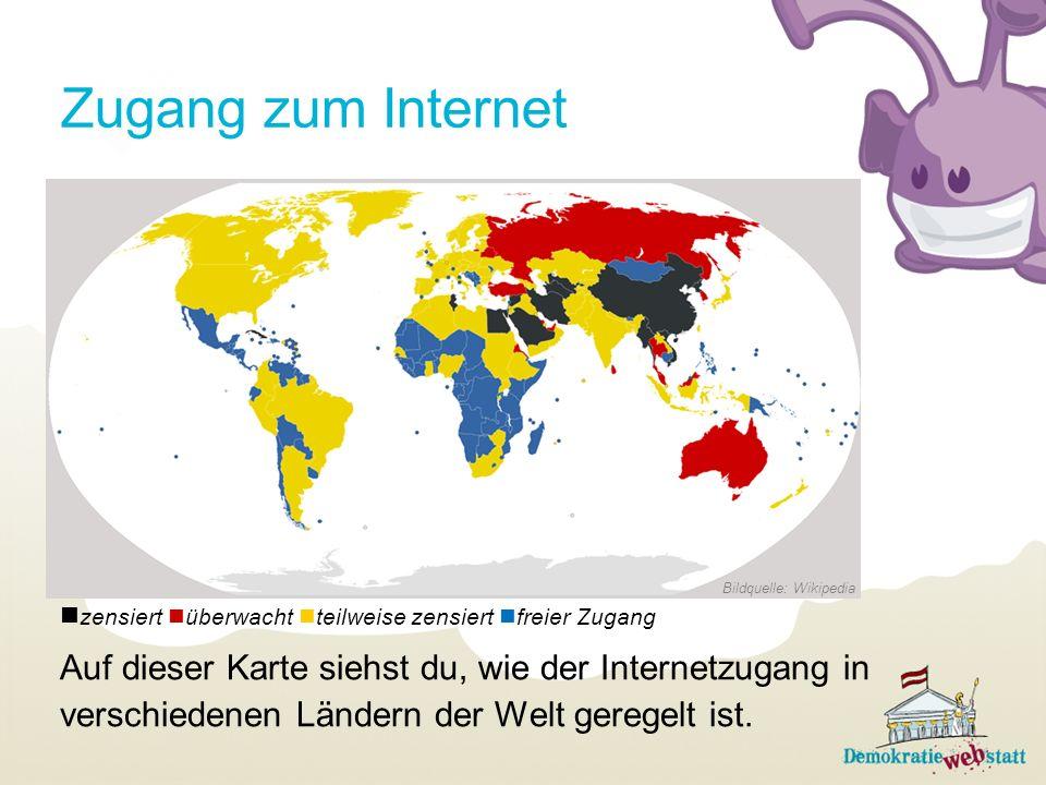 Zugang zum Internet zensiert überwacht teilweise zensiert freier Zugang. Auf dieser Karte siehst du, wie der Internetzugang in.