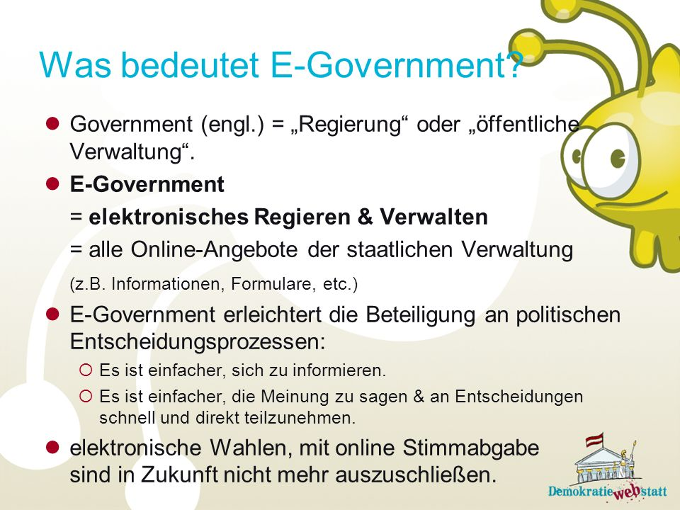 Was bedeutet E-Government