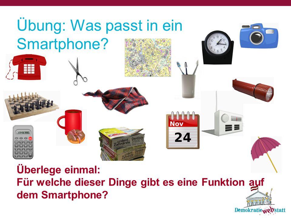 Übung: Was passt in ein Smartphone