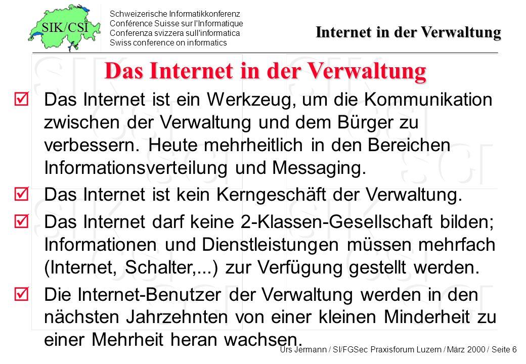 Das Internet in der Verwaltung