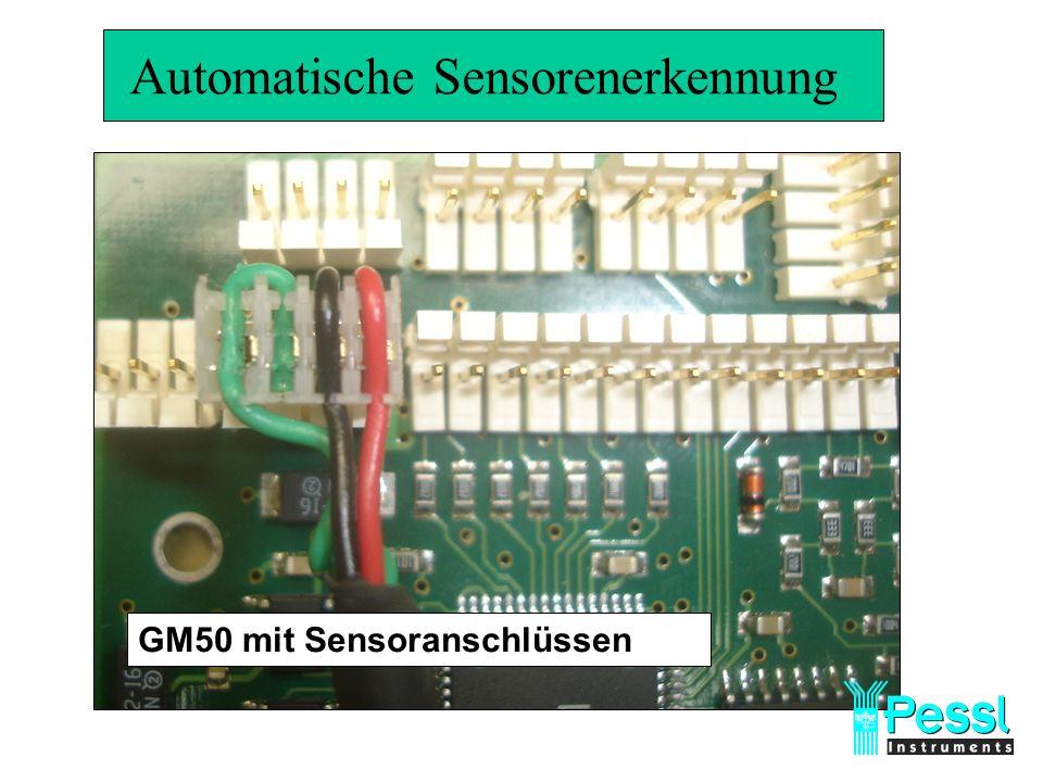 Automatische Sensorenerkennung