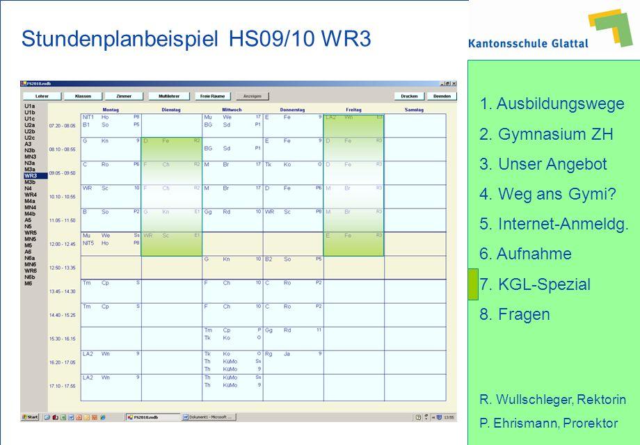 Stundenplanbeispiel HS09/10 WR3