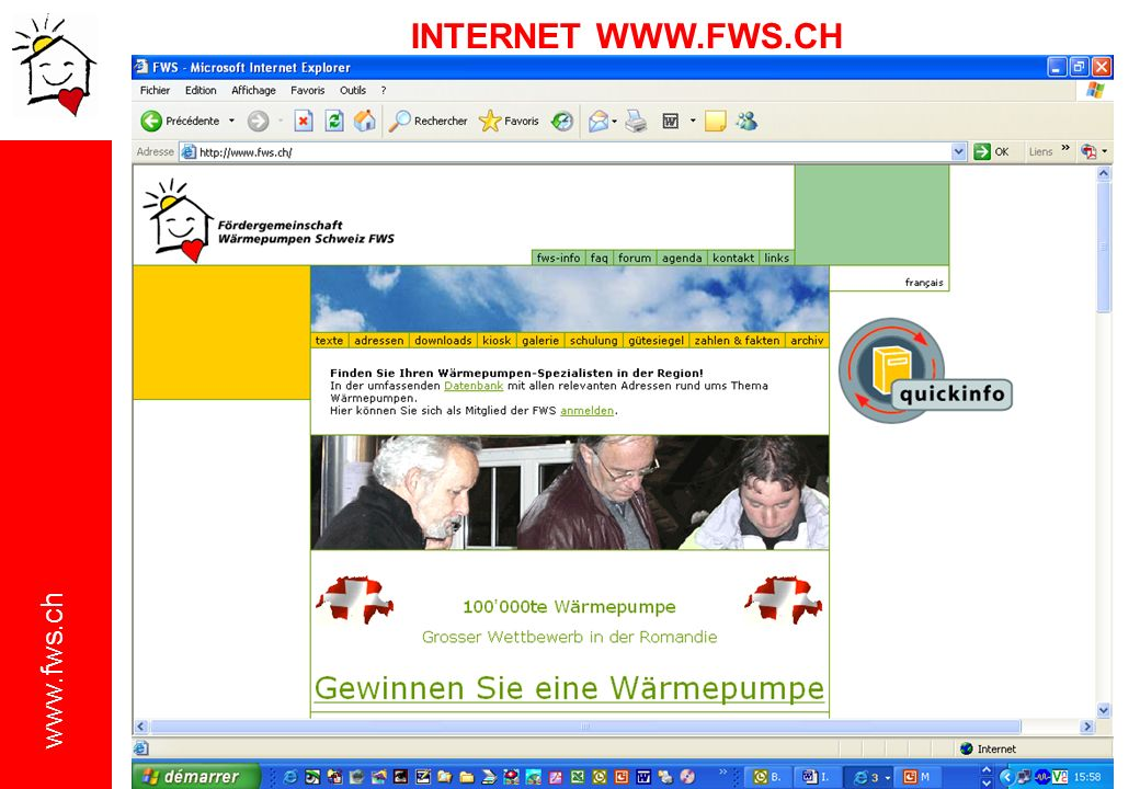 INTERNET WWW.FWS.CH
