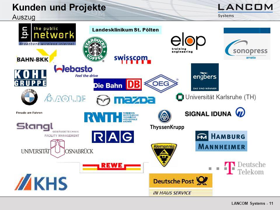 Kunden und Projekte Auszug