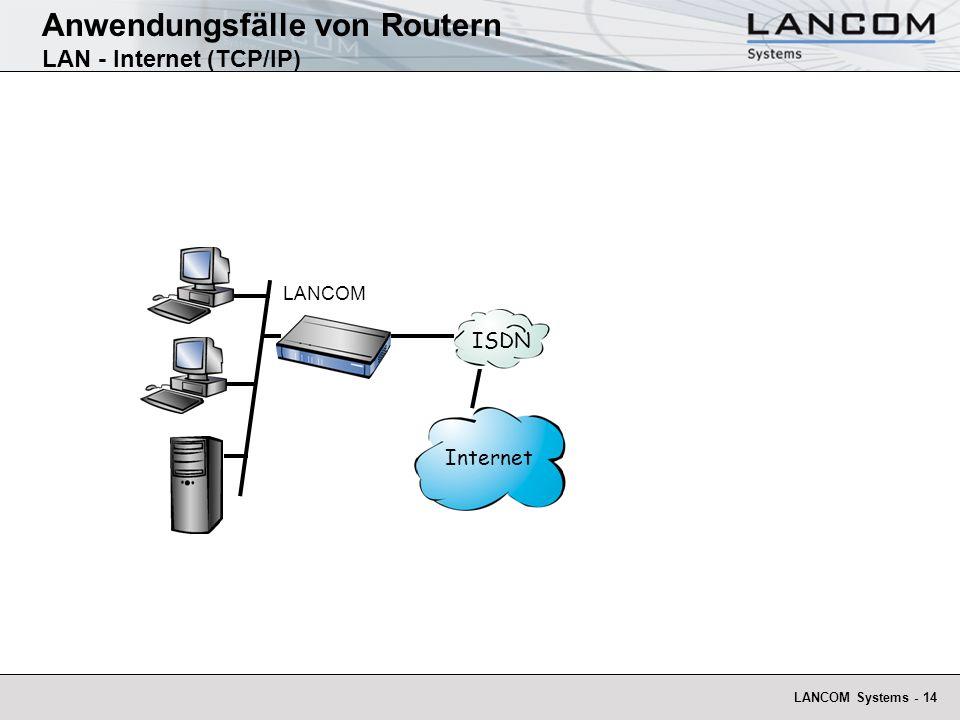 Anwendungsfälle von Routern LAN - Internet (TCP/IP)