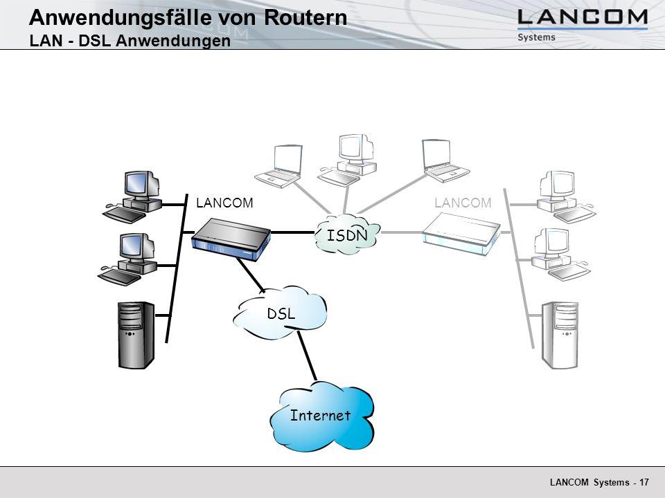 Anwendungsfälle von Routern LAN - DSL Anwendungen