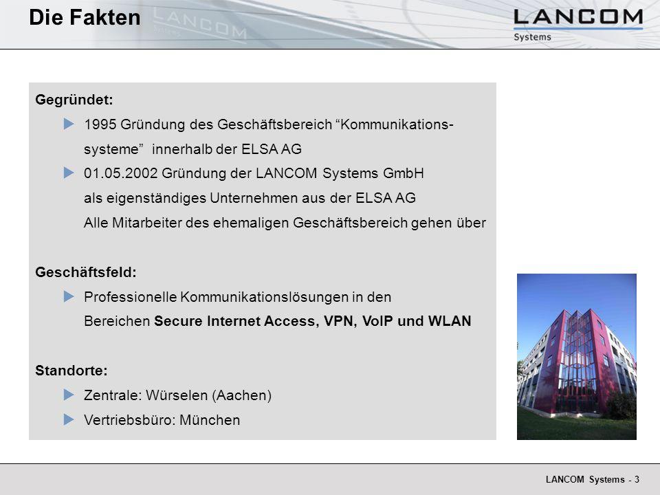 Die Fakten Gegründet: 1995 Gründung des Geschäftsbereich Kommunikations-systeme innerhalb der ELSA AG.