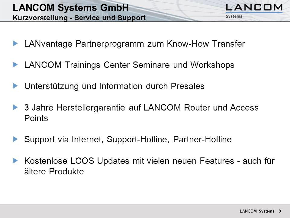 LANCOM Systems GmbH Kurzvorstellung - Service und Support