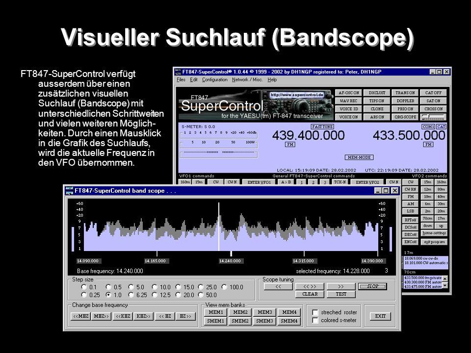 Visueller Suchlauf (Bandscope)