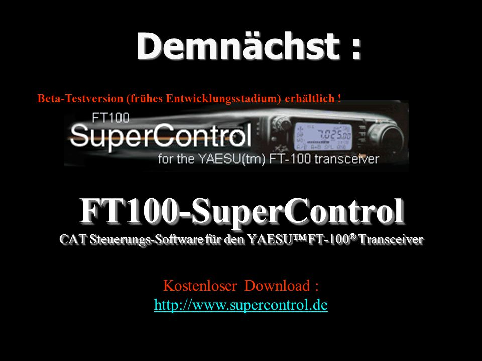 Kostenloser Download : http://www.supercontrol.de