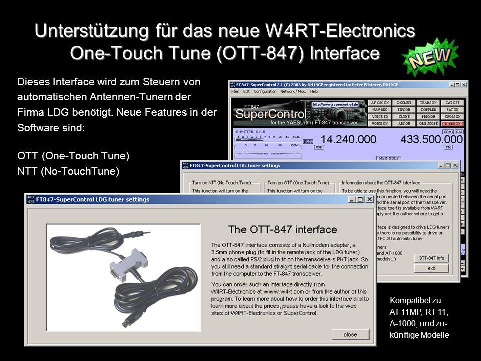 Unterstützung für das neue W4RT-Electronics One-Touch Tune (OTT-847) Interface