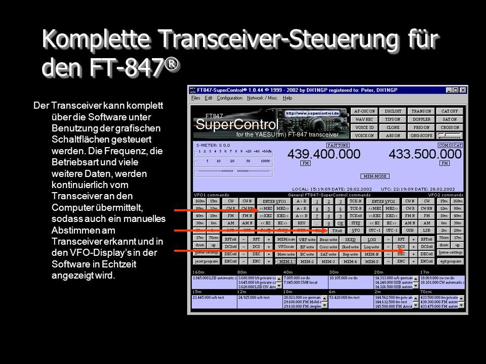 Komplette Transceiver-Steuerung für den FT-847®