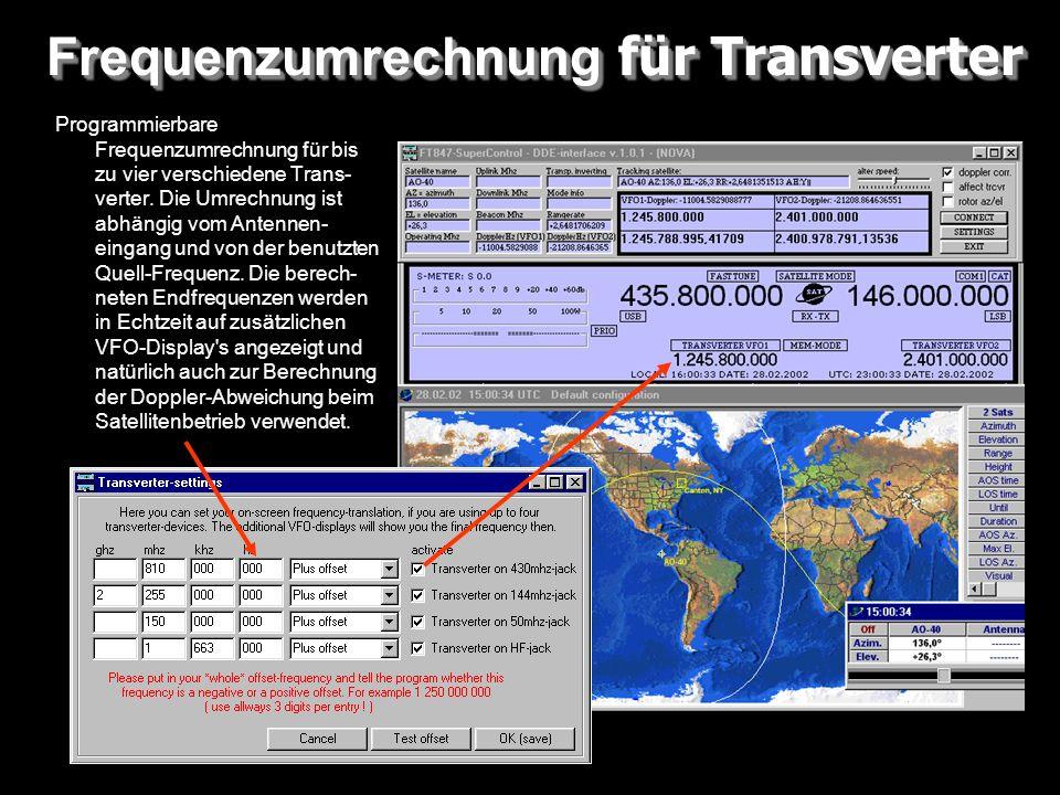 Frequenzumrechnung für Transverter
