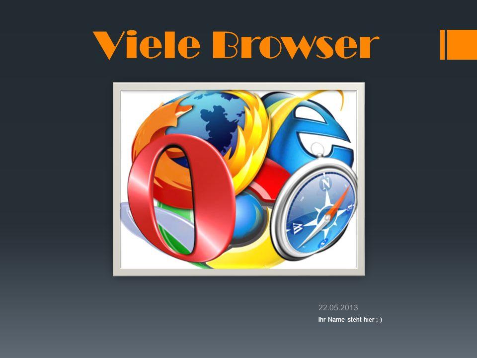 Viele Browser 22.05.2013 Ihr Name steht hier ;-)