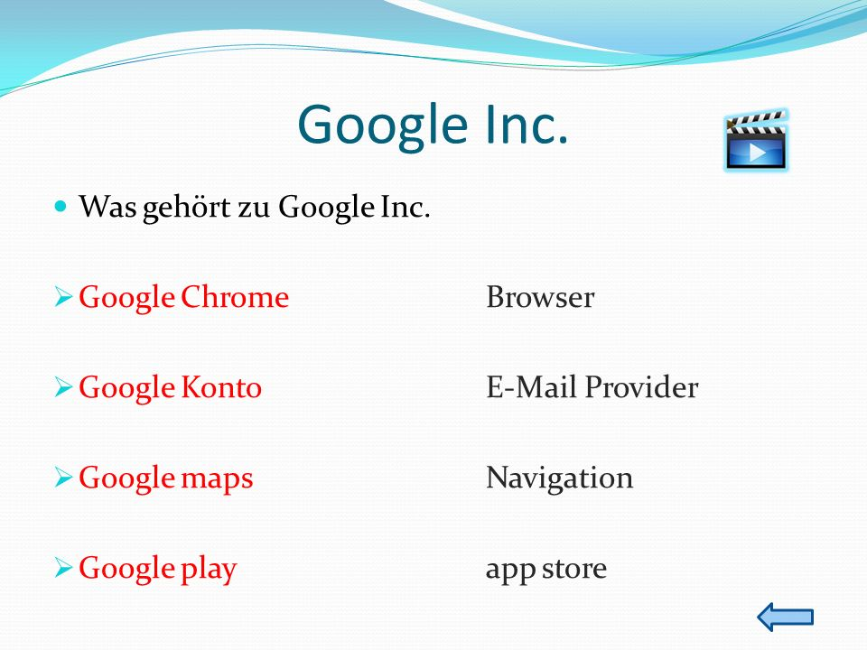 Google Inc. Was gehört zu Google Inc. Google Chrome Browser