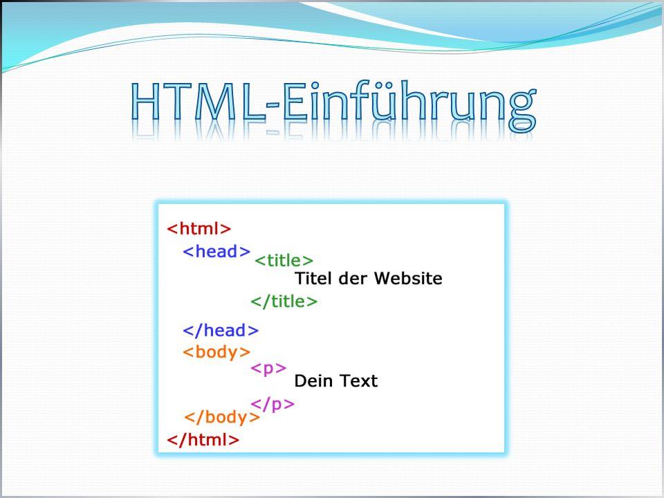 HTML-Einführung