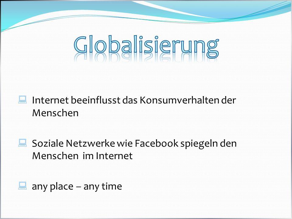 Globalisierung Internet beeinflusst das Konsumverhalten der Menschen