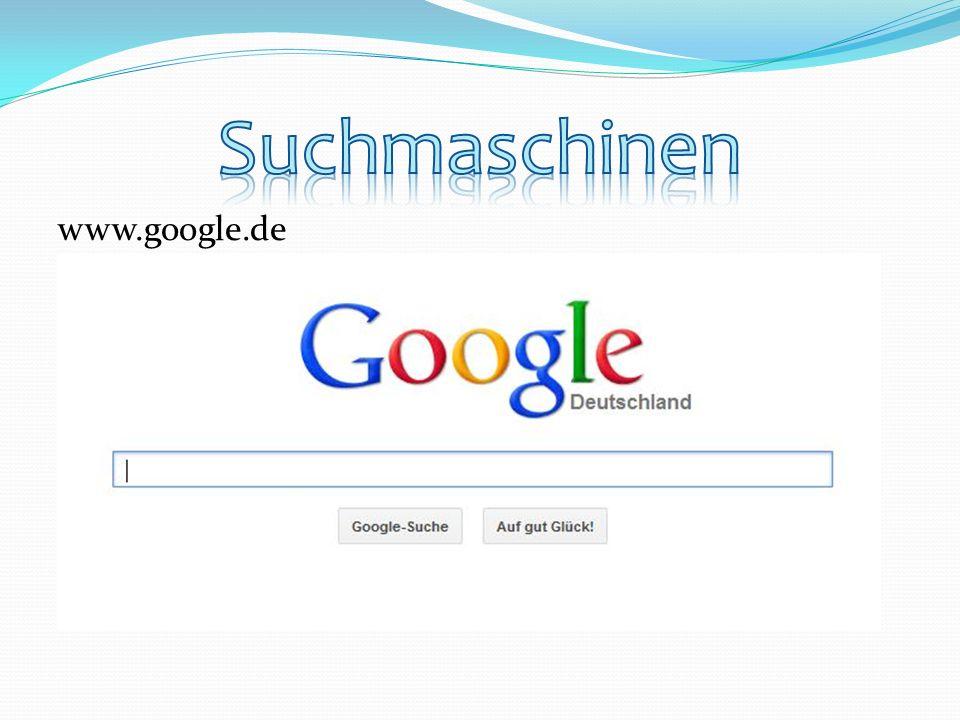 Suchmaschinen www.google.de