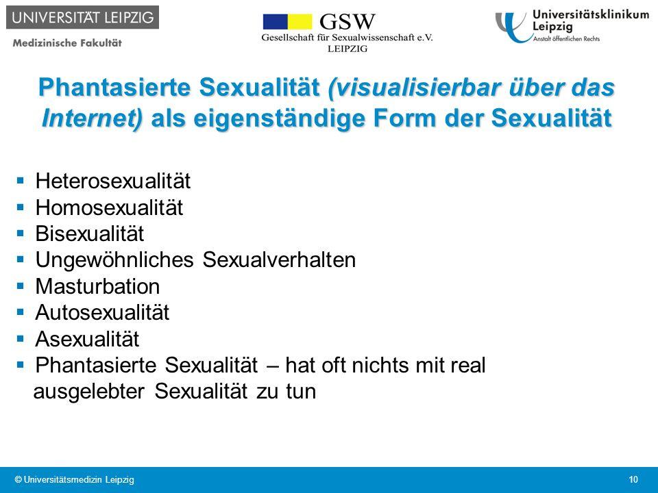 Phantasierte Sexualität (visualisierbar über das Internet) als eigenständige Form der Sexualität