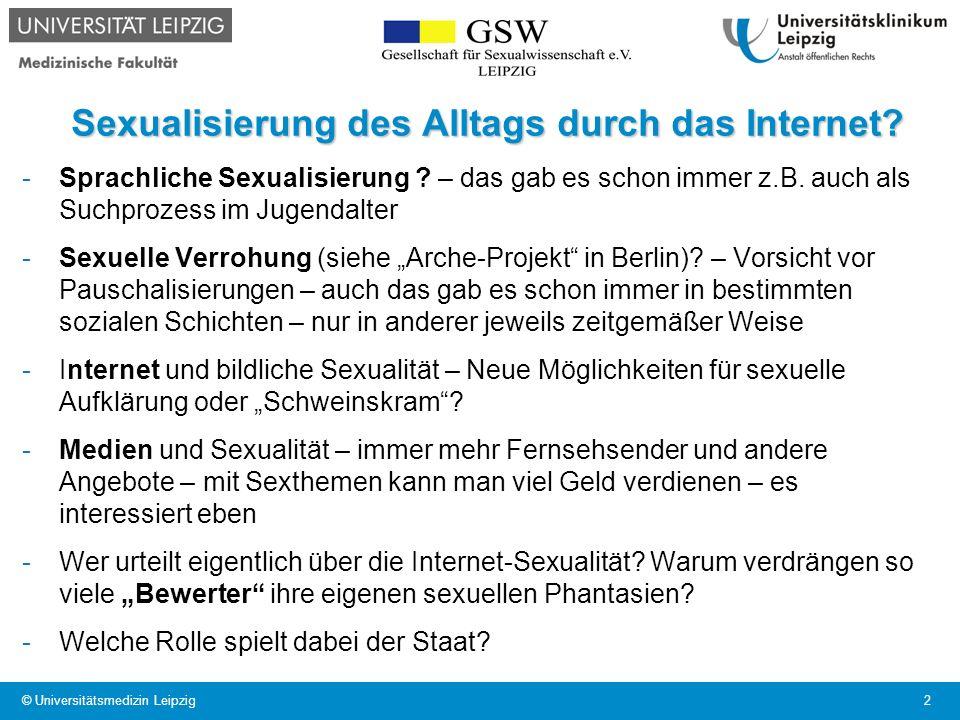 Sexualisierung des Alltags durch das Internet