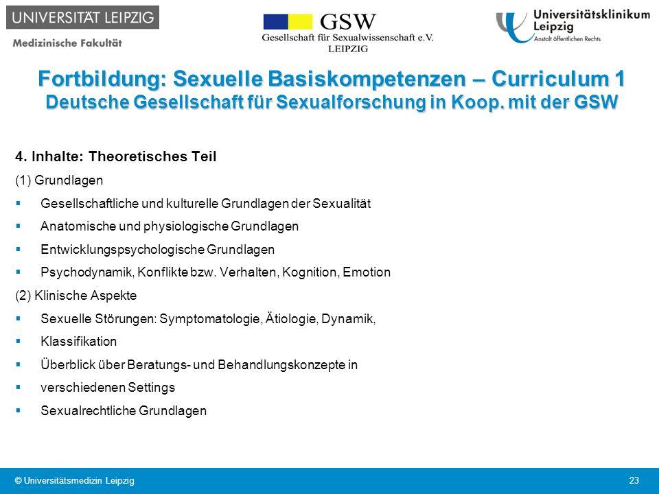 Fortbildung: Sexuelle Basiskompetenzen – Curriculum 1 Deutsche Gesellschaft für Sexualforschung in Koop. mit der GSW
