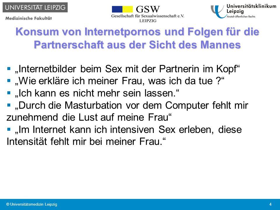Konsum von Internetpornos und Folgen für die Partnerschaft aus der Sicht des Mannes