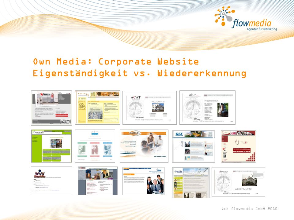 Own Media: Corporate Website Eigenständigkeit vs. Wiedererkennung