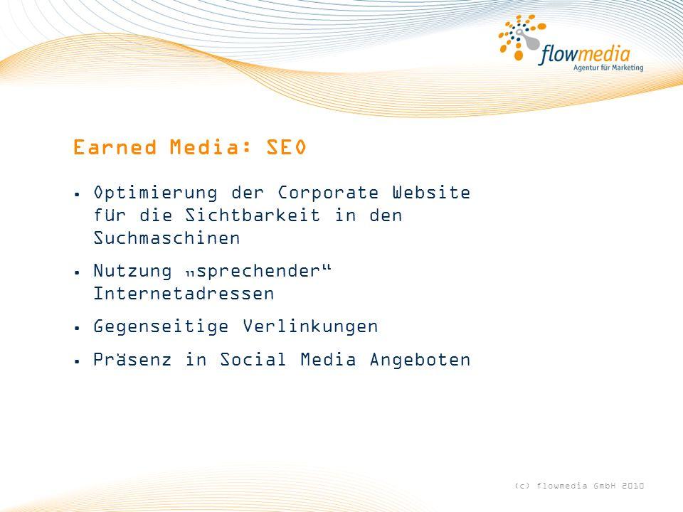 """Earned Media: SEO Optimierung der Corporate Website für die Sichtbarkeit in den Suchmaschinen. Nutzung """"sprechender Internetadressen."""