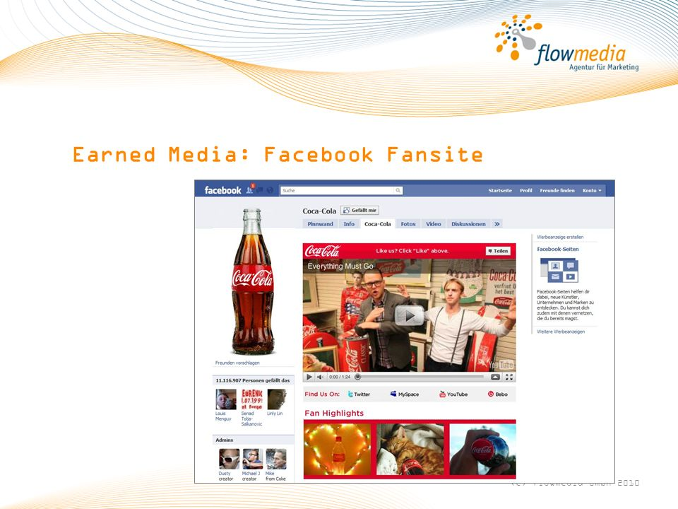 Earned Media: Facebook Fansite