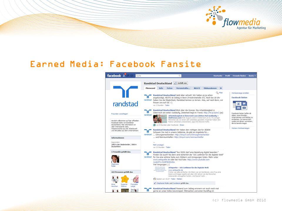 Earned Media: Facebook Fansite