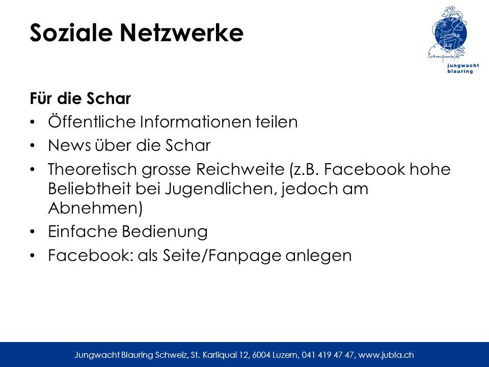 Soziale Netzwerke Für die Schar Öffentliche Informationen teilen