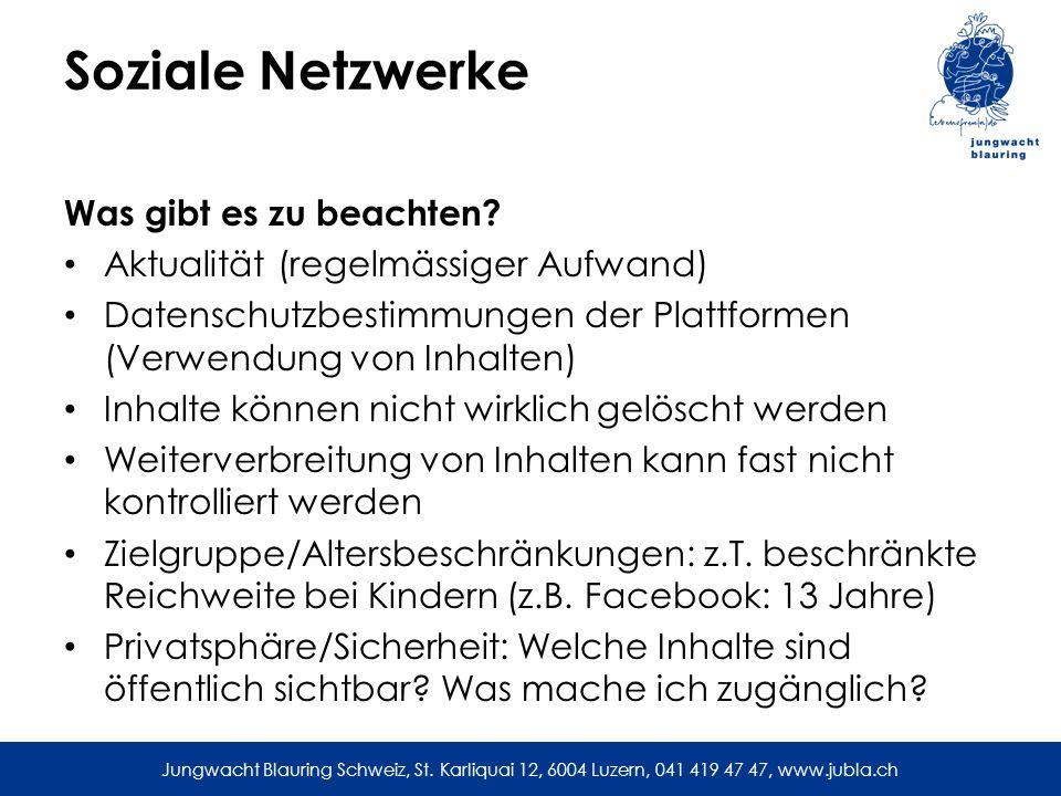 Soziale Netzwerke Was gibt es zu beachten