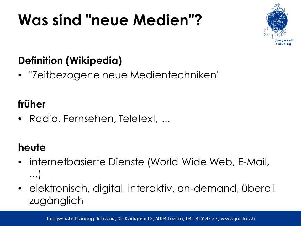 Was sind neue Medien Definition (Wikipedia)