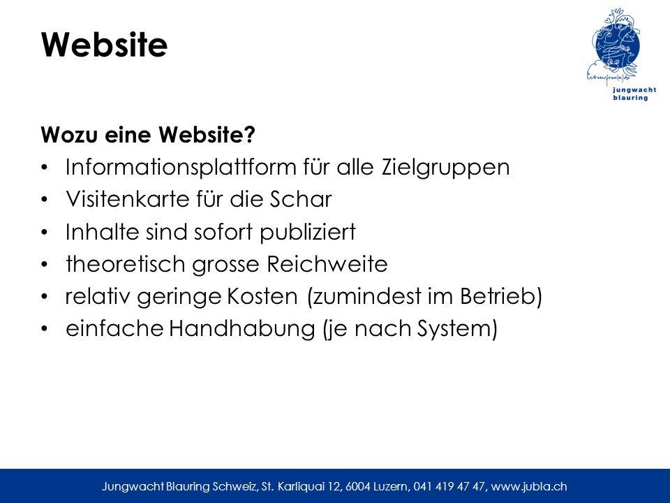 Website Wozu eine Website Informationsplattform für alle Zielgruppen