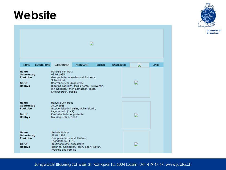 Website Webseiten sind auch nach Jahren noch auffindbar, z.B.