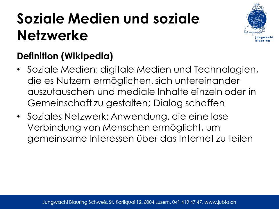 Soziale Medien und soziale Netzwerke