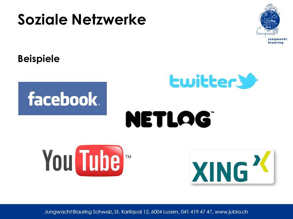 Soziale Netzwerke Beispiele