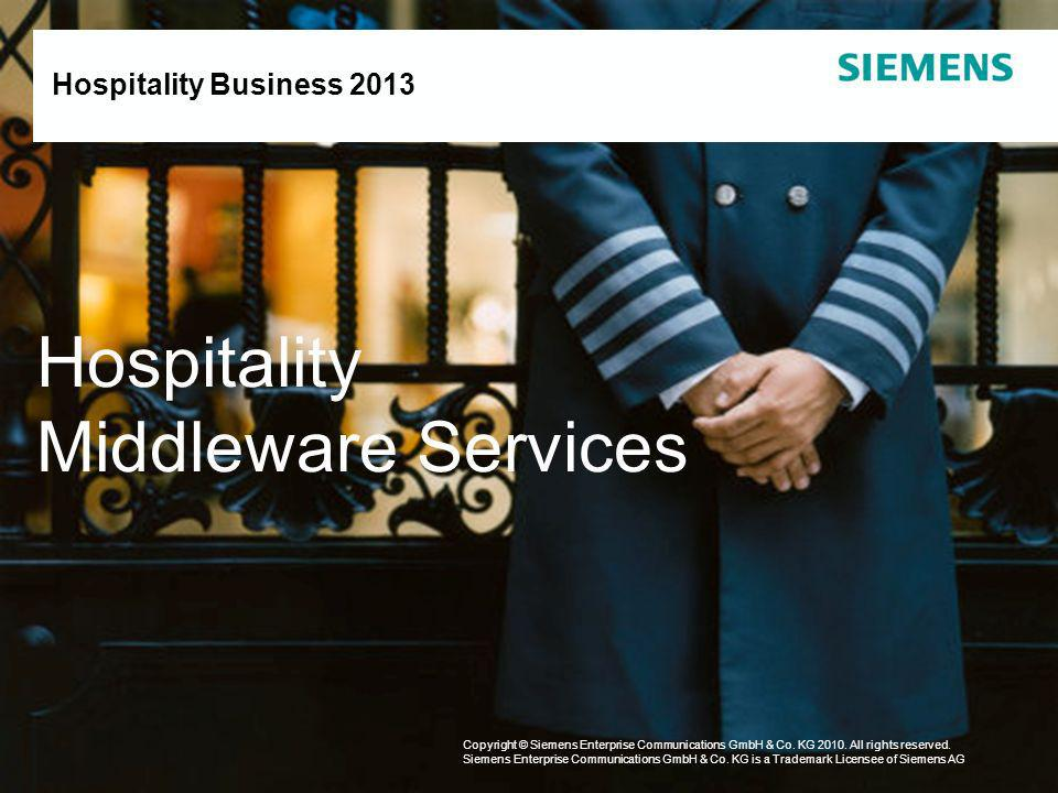 Hospitality Middleware Services Hospitality Business 2013 1