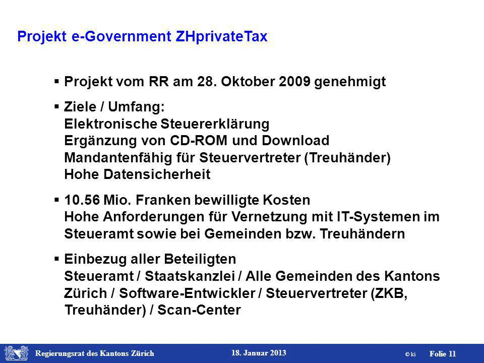 Projekt e-Government ZHprivateTax