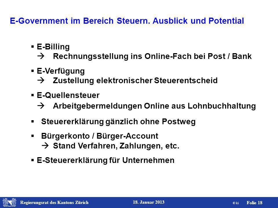 E-Government im Bereich Steuern. Ausblick und Potential