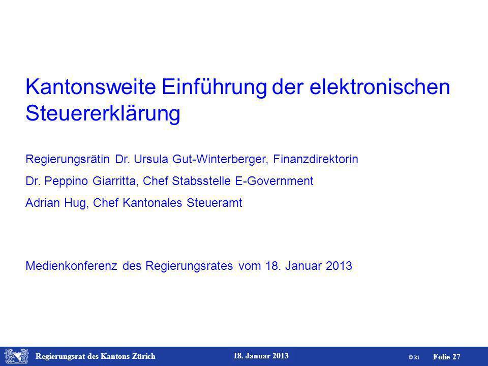 Kantonsweite Einführung der elektronischen Steuererklärung