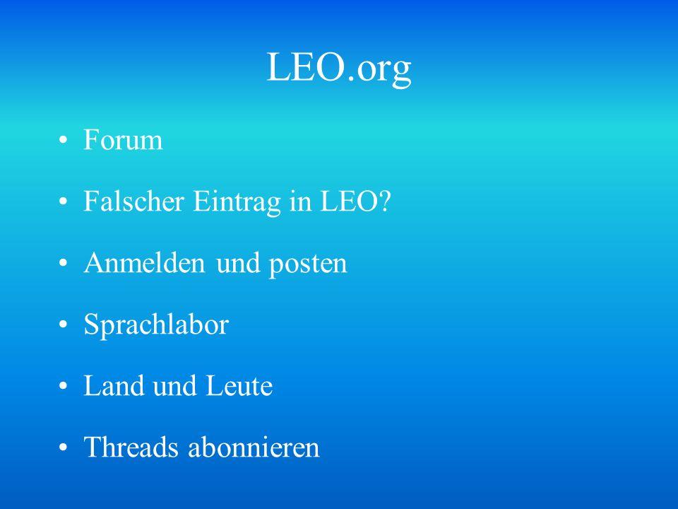 LEO.org Forum Falscher Eintrag in LEO Anmelden und posten Sprachlabor