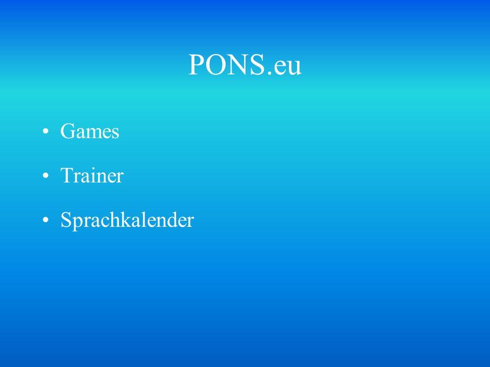 PONS.eu Games Trainer Sprachkalender