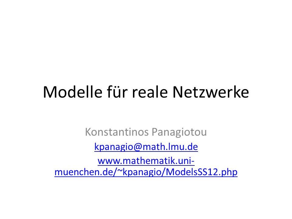 Modelle für reale Netzwerke
