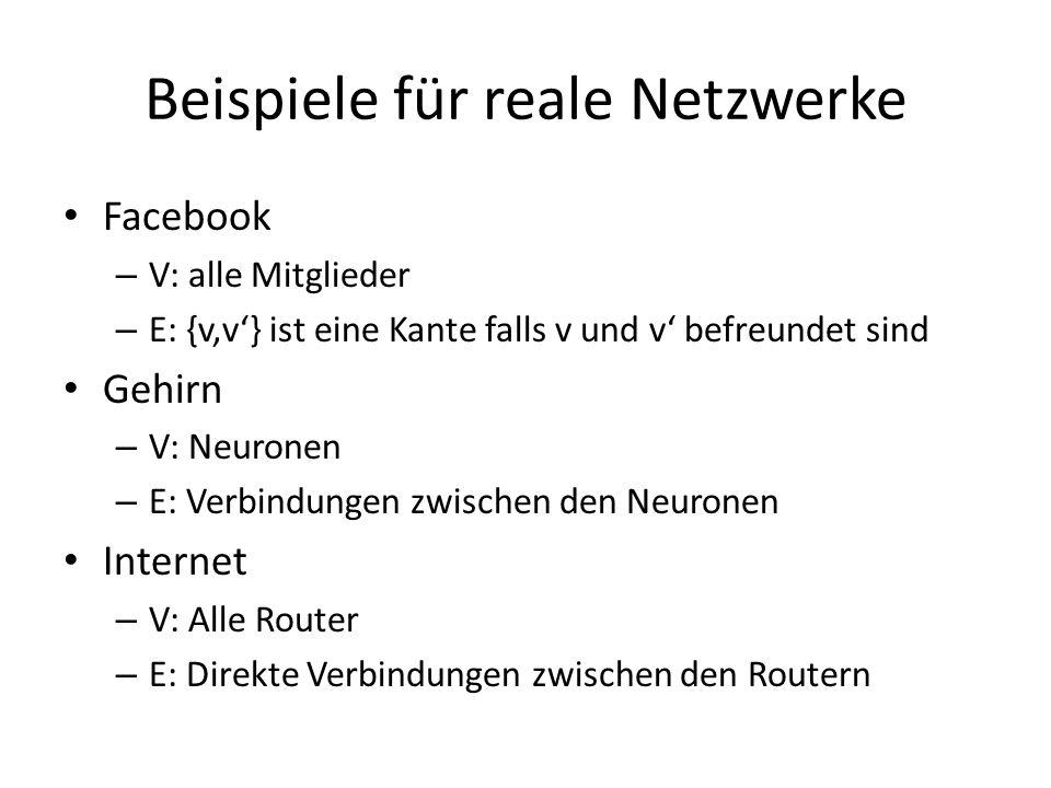 Beispiele für reale Netzwerke