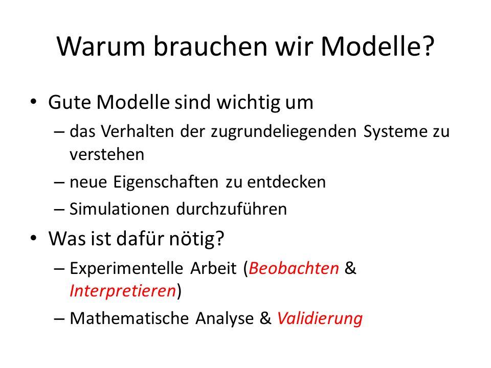 Warum brauchen wir Modelle