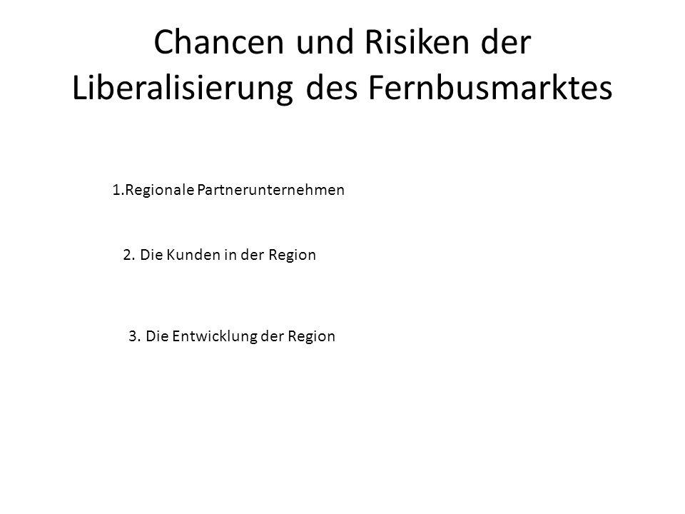 Chancen und Risiken der Liberalisierung des Fernbusmarktes