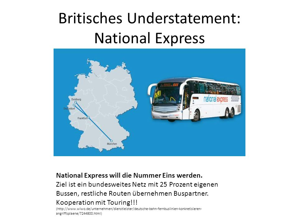 Britisches Understatement: National Express