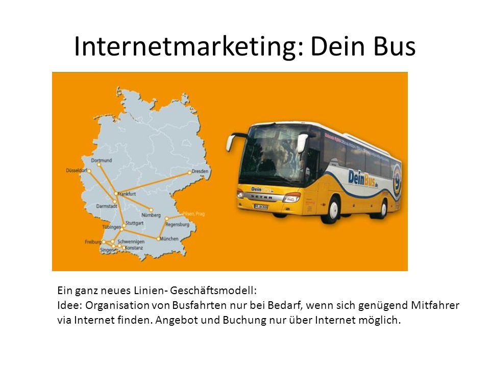Internetmarketing: Dein Bus